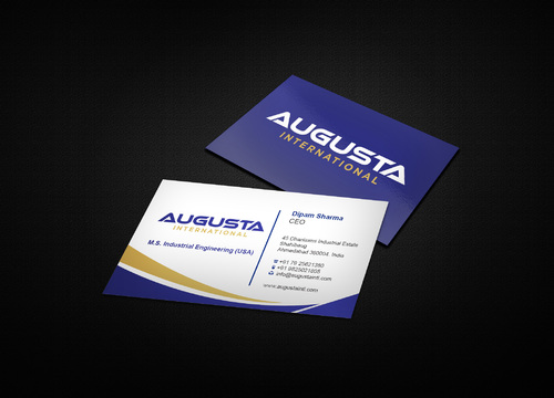 Augusta International Business Cards and Stationery  Draft # 6 by i3designer