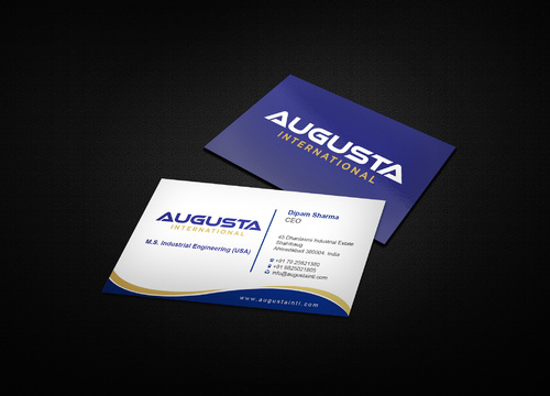 Augusta International Business Cards and Stationery  Draft # 7 by i3designer