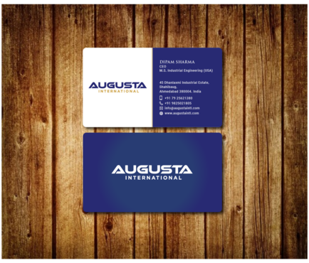 Augusta International Business Cards and Stationery  Draft # 8 by Toeng