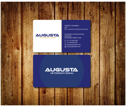 Augusta International Business Cards and Stationery  Draft # 9 by Toeng