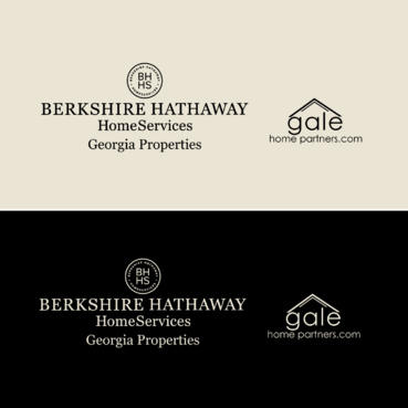 Berkshire Hathaway Home Services Logo + Gale Home Partners.com A Logo, Monogram, or Icon  Draft # 76 by FiddlinNita