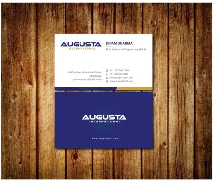 Augusta International Business Cards and Stationery  Draft # 11 by Toeng