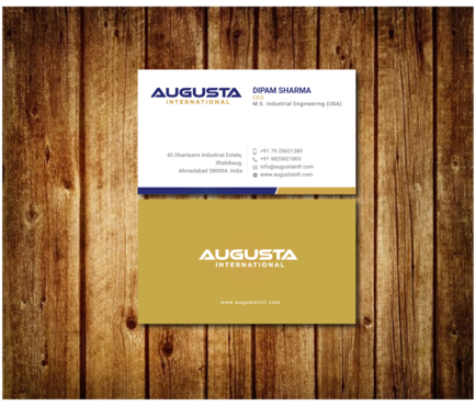 Augusta International Business Cards and Stationery  Draft # 12 by Toeng