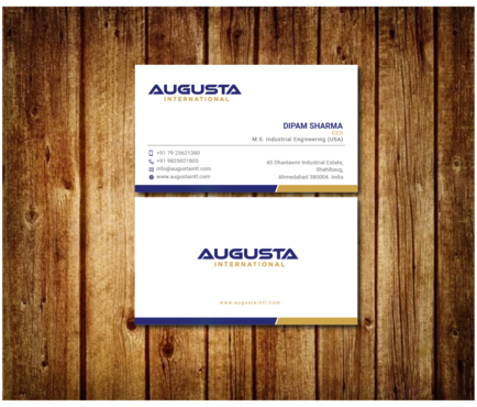 Augusta International Business Cards and Stationery  Draft # 13 by Toeng