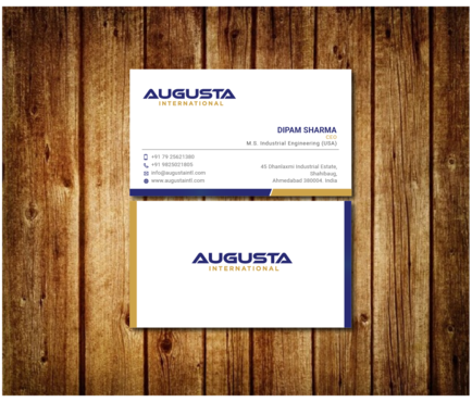 Augusta International Business Cards and Stationery  Draft # 14 by Toeng