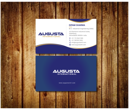 Augusta International Business Cards and Stationery  Draft # 15 by Toeng