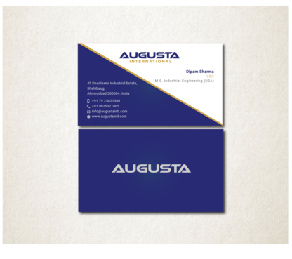 Augusta International Business Cards and Stationery  Draft # 108 by Toeng