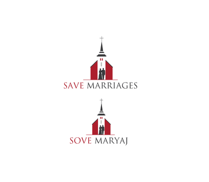 Save Marriages       Sove Maryaj (this is the same in another language, I want logo in 2 languages) A Logo, Monogram, or Icon  Draft # 7 by neonlite