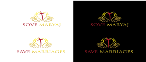 Save Marriages       Sove Maryaj (this is the same in another language, I want logo in 2 languages) A Logo, Monogram, or Icon  Draft # 8 by neonlite