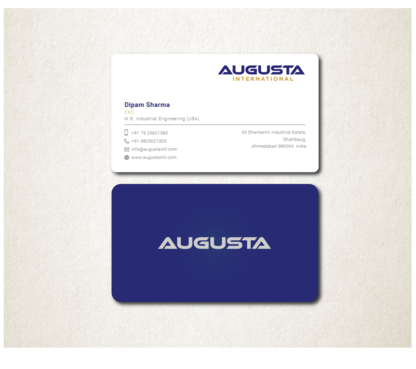 Augusta International Business Cards and Stationery  Draft # 109 by Toeng
