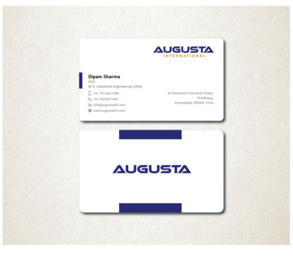 Augusta International Business Cards and Stationery  Draft # 110 by Toeng