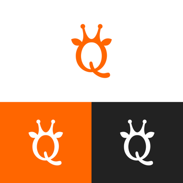 "Single Letter ""Q"" with a giraffe A Logo, Monogram, or Icon  Draft # 147 by DuniaFantasi"