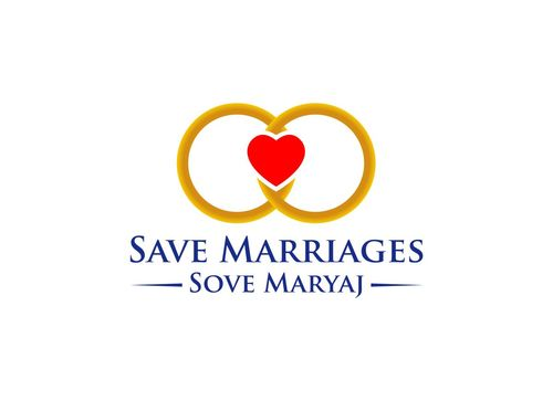 Save Marriages       Sove Maryaj (this is the same in another language, I want logo in 2 languages) A Logo, Monogram, or Icon  Draft # 26 by crossdesain