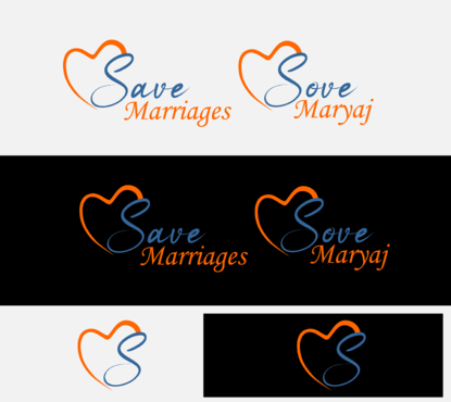 Save Marriages       Sove Maryaj (this is the same in another language, I want logo in 2 languages) Logo Winning Design by jackHmill
