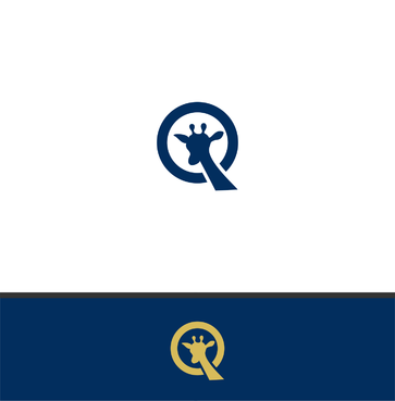 "Single Letter ""Q"" with a giraffe A Logo, Monogram, or Icon  Draft # 180 by bwnpdesigns"