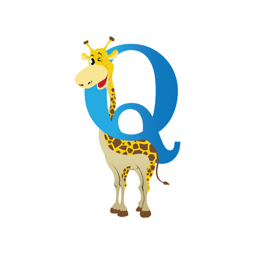 "Single Letter ""Q"" with a giraffe A Logo, Monogram, or Icon  Draft # 191 by naison"