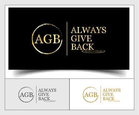 """Always Give Back"" or AGB"" Logo Winning Design by emzbeautyart"
