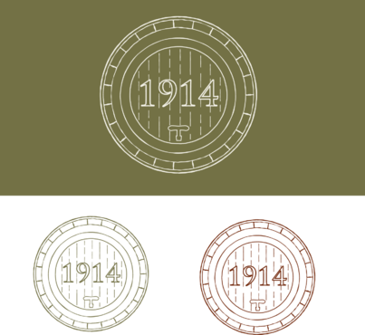 Cellar 1914 A Logo, Monogram, or Icon  Draft # 88 by FiddlinNita
