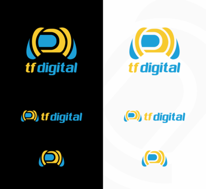 tf digital Logo Winning Design by AnakEtong