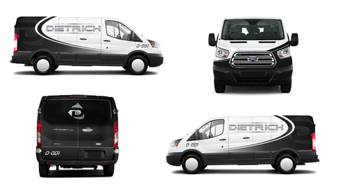 Design by jogdesigner For Courier Van Design/Wrap