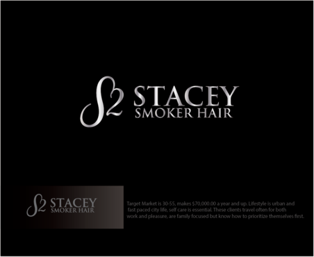 """Stacey Smoker Hair"" or ""S2"" (like S^2, S to the 2nd power, S squared speaks to the SS in my name) A Logo, Monogram, or Icon  Draft # 60 by logoGamerz"