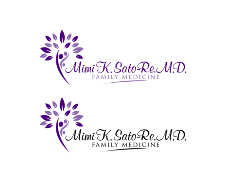 Mimi K. Sato-Re, M.D.  Logo Winning Design by goraart