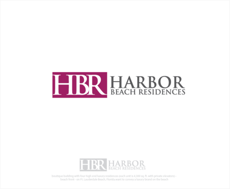 Harbor Beach Residences and/or HBR A Logo, Monogram, or Icon  Draft # 3 by logoGamerz