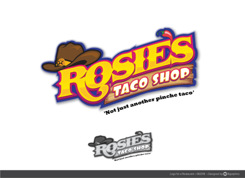 rosie's taco shop A Logo, Monogram, or Icon  Draft # 7 by ALgraphics