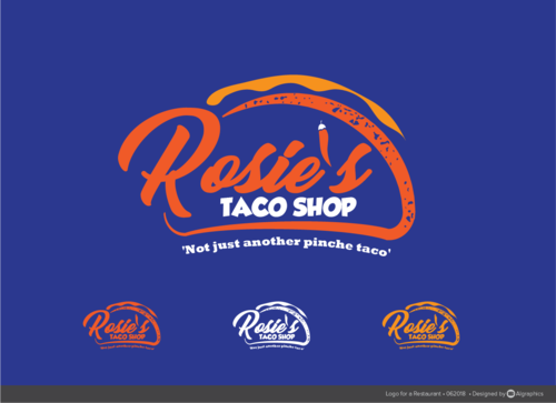 rosie's taco shop Logo Winning Design by ALgraphics
