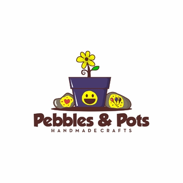 Pebbles & Pots A Logo, Monogram, or Icon  Draft # 12 by SeranggaOtak