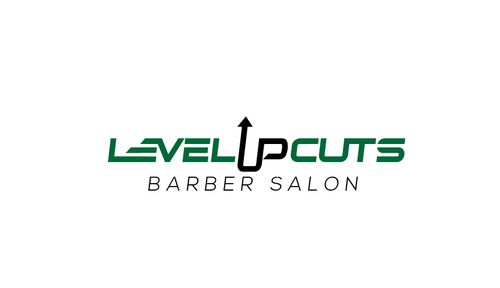 Level Up Cuts Barber Salon Logo Winning Design by Stardesigns