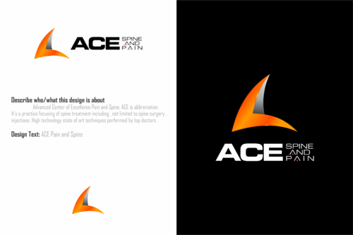 ACE spine and pain  A Logo, Monogram, or Icon  Draft # 153 by HandsomeRomeo