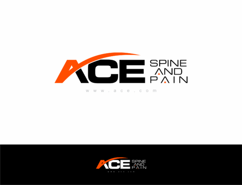 ACE spine and pain  A Logo, Monogram, or Icon  Draft # 158 by HandsomeRomeo