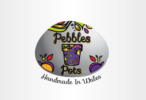Pebbles & Pots Logo Winning Design by nelly83