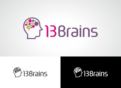 13Brains A Logo, Monogram, or Icon  Draft # 34 by Adwebicon