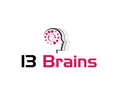 13Brains Logo Winning Design by Kanyakumari