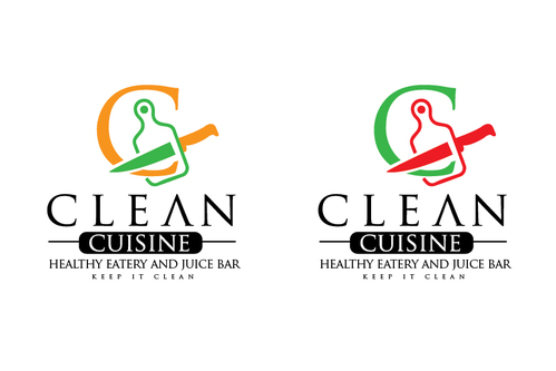 clean cuisine healthy eatery and juice bar  A Logo, Monogram, or Icon  Draft # 2 by TheTanveer