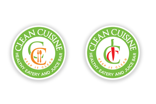 clean cuisine healthy eatery and juice bar  A Logo, Monogram, or Icon  Draft # 4 by TheTanveer