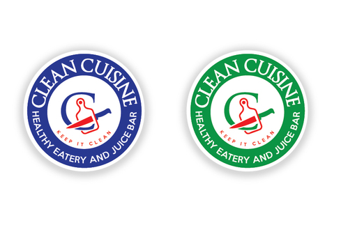 clean cuisine healthy eatery and juice bar  A Logo, Monogram, or Icon  Draft # 7 by TheTanveer