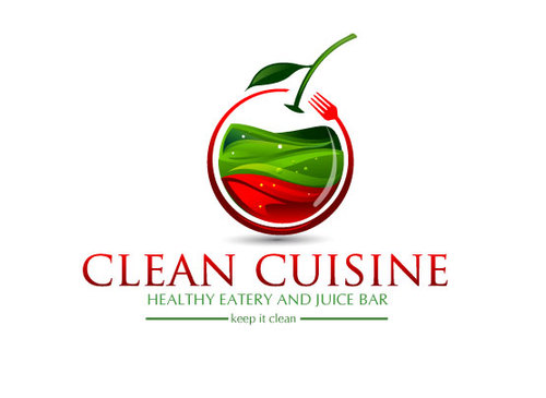 clean cuisine healthy eatery and juice bar  A Logo, Monogram, or Icon  Draft # 58 by shreeganesh