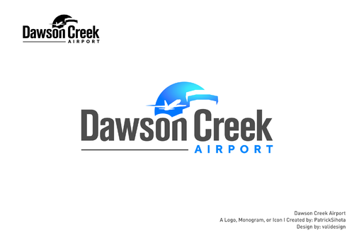 Dawson Creek Airport A Logo, Monogram, or Icon  Draft # 54 by validesign