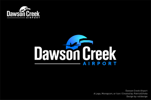 Dawson Creek Airport A Logo, Monogram, or Icon  Draft # 55 by validesign