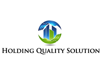 Holding Quality Solution Logo Winning Design by guetizo