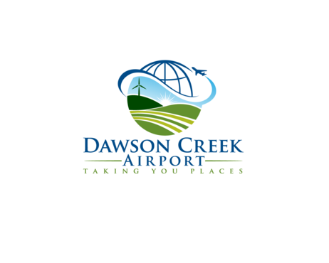 Dawson Creek Airport Logo Winning Design by hallow