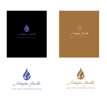 Masterpiece Candles A Logo, Monogram, or Icon  Draft # 19 by donnajane