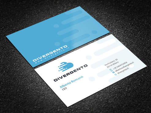 Design by einsanimation For Business card layout for a IT company, Cloudera partner, specialized in Big Data