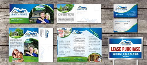 Tri-Fold Brochure, yard sign, post card and business card