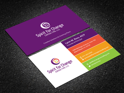 Design by einsanimation For Spirit for Change Bcard/Stationary