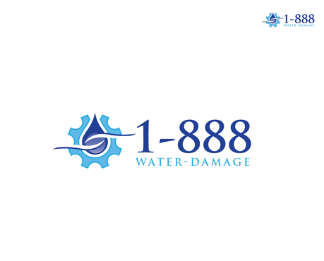 1-888-Water-Damage A Logo, Monogram, or Icon  Draft # 75 by topazz
