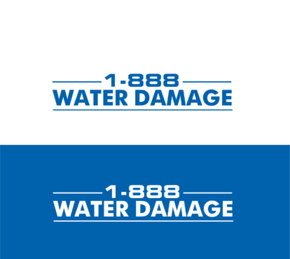 1-888-Water-Damage A Logo, Monogram, or Icon  Draft # 80 by B4BEST